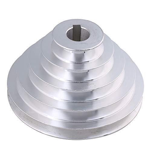BQLZR 54 mm a 150 mm Diametro esterno 24 mm larghezza 12.7 mm aluminum 5 step pagoda puleggia per cinghia trapezoidale un tipo cinghia dentata