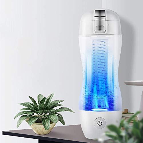 Sntsya Botella de Agua portátil de generador Rico en hidrógeno, 350 ml de Descarga de Alta concentración de ozono y Cloro, Taza de hidrógeno Molecular portátil