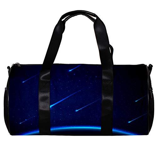 Borsone da palestra rotondo con tracolla staccabile Meteor doccia sfondo allenamento borsa per la notte per donne e uomini
