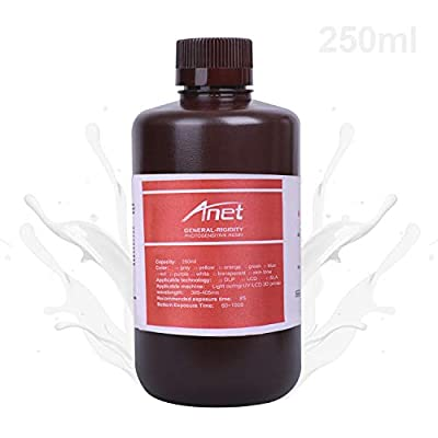 Fesjoy General-Purpose Rapid Resin 405nm Standard Photopolymer Curing Resin Low Odor Non-Toxic 250ml for DLP/LCD Light Curing 3D Printer Photosensitive Resin