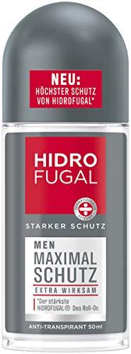 Hidrofugal Men Maximal Schutz Roll-on (50 ml), hochwirksamer Anti-Transpirant Schutz mit langanhaltend frischem Duft, Deo für Männer ohne Ethylalkohol