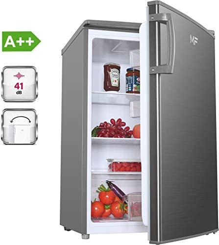MF KS1130A2IX Kühlschrank A++ Freistehend, 85 cm, Tischkühlschrank, Nutzinhalt von 132 Litern, LED Licht, sehr niedriger Energieverbrauch, Vollraumkühlschrank, B550 x T580 x H850 mm, Edelstahl Optik