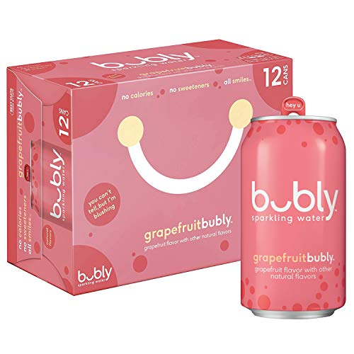 bubly Sparkling Water, Grapefruit, 12 fl oz. cans (12 pack)