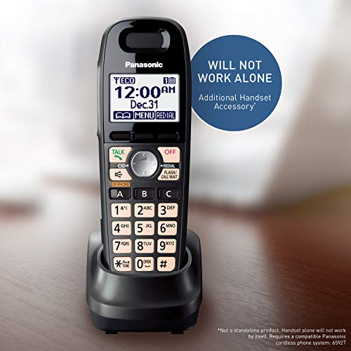 Panasonic Cordless Phone Handset Accessory Compatible with KX-TG6592T Cordless Phone System -...
