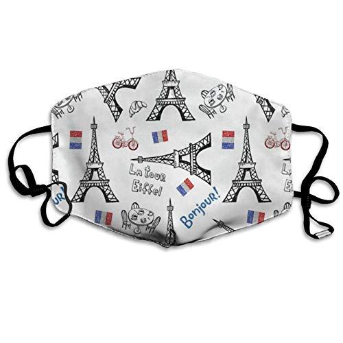 EFFIEL TOALLA Unisex bufanda facial ajustable a prueba de polvo protector bucal a prueba de viento bandanas cara transpirable