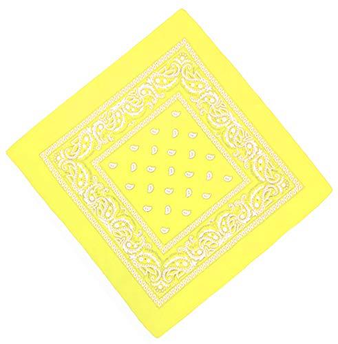 Unbekannt Bandana Kopftuch Halstuch Nickituch Biker Tuch Motorad Tuch verschied. Farben Paisley Muster, Gelb, ...