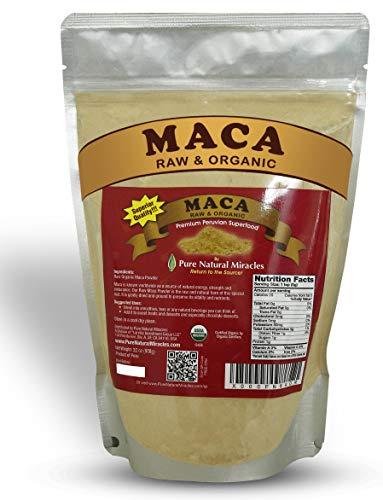 PNM Organic Maca Root Powder, Black, Red, Yellow, 16 Ounces