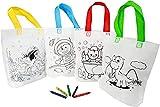 HOPY 20 Borsette da Colorare per Bambini, in 20 Bustine Singole con 5 Colori A Cera Non Tossici | Sacchetti da Colorare Ideali Come Regalini Fine Festa Compleanno
