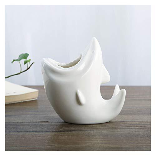 DALIBAI Moderna de la flor Pot tiburón Forma simple mesa pequeña suculenta de vasijas de cerámica Planta de contenedores Jardinera Jardín Balcón Decoración Hogar Deco Regalo de cumpleaños Regalo de na