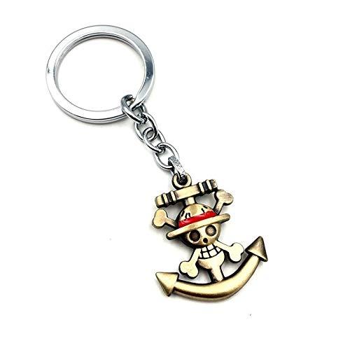 Llavero One Piece Ancla Luffy 4 cm | Para Guardar y Tener recogidas las Llaves | Porta llaves Original y Práctico | Organizador de llaves Compacto
