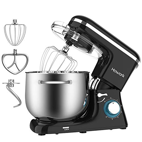 HOWORK Stand Mixer, 8.45 QT Bowl 660W Food Mixer, Multi Functional Kitchen Electric Mixer With Dough Hook, Whisk, Beater