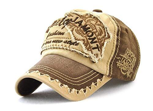 Baishide Vintage Distressed Baseballcap Snapback Sport Schirmmütze Outdoor Kappe (Braun)