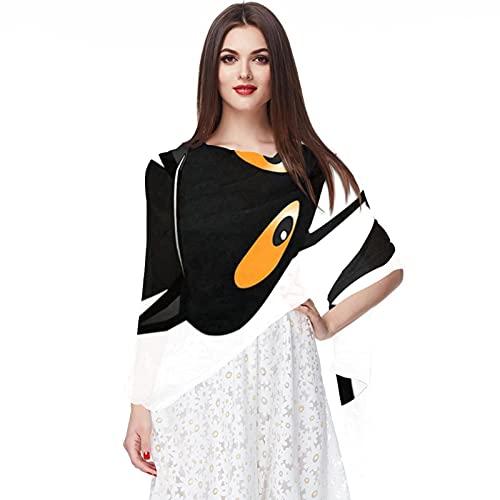 WJJSXKA Sciarpe in chiffon Sciarpe da donna con scialle per la primavera estate, zampe affilate di gatto