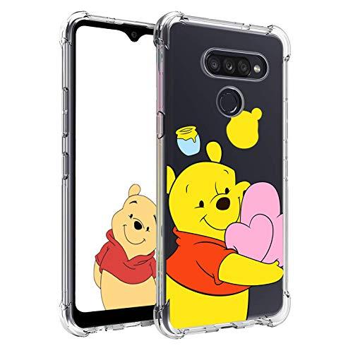 Nico Custodia per LG G8 ThinQ, LG G8, Cartone Animato Carino Divertente Moda, Morbido Silicone TPU Paraurti Ultra Sottile Protettivo Antiurto Telefono Cover per LG G8 ThinQ, LG G8 (Heart Winnie)