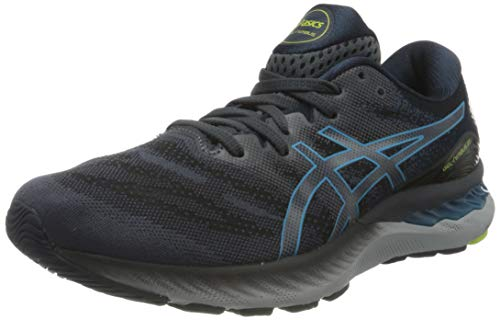 Asics Gel-Nimbus 23, Road Running Shoe Hombre, Carrier Grey/Digital Aqua, 45 EU