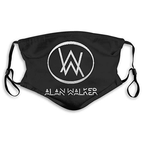 Gooeyokoi Mundschutz mit Filter Waschbar Atmungsaktive Staubdicht Schutz Bandana Alan Name Walker