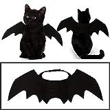 Aolvo Fledermausflügel Katzen-Kostüm, Fledermausflügel, schwarz, Filzstoff, weich, verstellbar,...