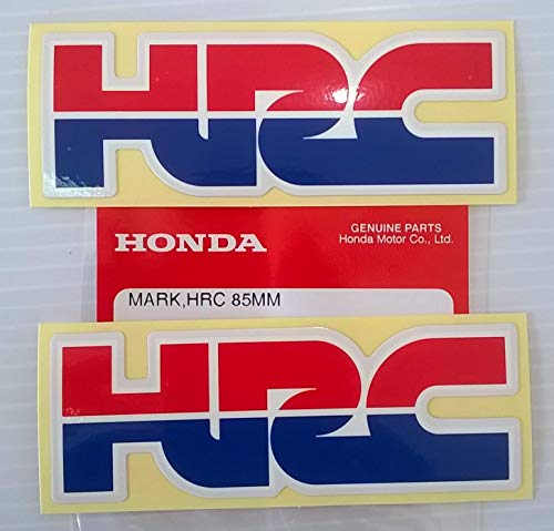 2 x HONDA - HRC (Honda Racing Corporation) DECAL STICKER BADGE - L 85mm x H 30mm