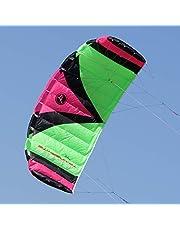 Wolkenstürmer Paraflex Trainer 2.3 Actionkite Neonpink - 3 Leiner Lenkmatte zum Mountainboardfahren