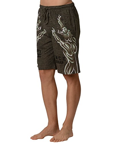 Ed Hardy Men's Roaring Panther Lounge Shorts - Green Dust - Large