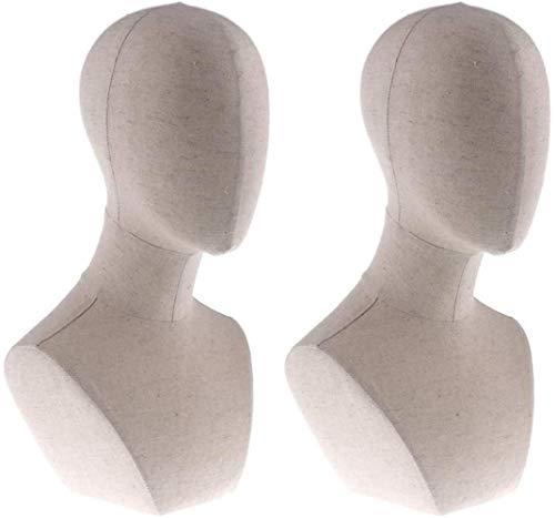 Mannequins de couture reglable 2pcs tête Perruques Manikin Mannequin Lunettes Chapeau Hairband Holder présentoir Porte vêtement Mannequin