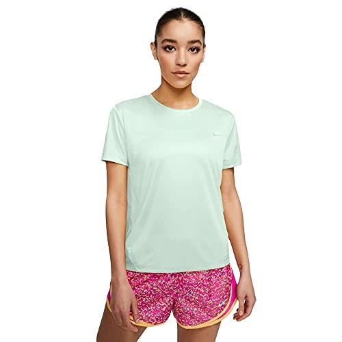 NIKE Camiseta Miler para Mujer, Mujer, Camiseta, AJ8121, Verde Barely/Reflective Silv, Extra-Large