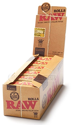 RAW Rolls Classic Endlospaper Papers Rollen ungebleichtes Papier 3 Boxen (36 Rolls)