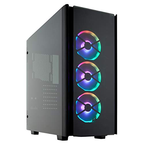 Corsair Obsidian Series 500D RGB SE Premium Mid-Tower Case, 3 RGB Fans, Smoked Tempered Glass, Aluminum Trim, Integrated Commander PRO fan and lighting controller (CC-9011139-WW)