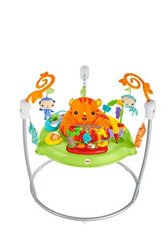 Fisher-Price Jumperoo Jungle Trotteur Bébé avec Lumières, Sons et Musiques, Siège Tournant à 360°, Stimule les Sens, 9 Mois et Plus, CHM91