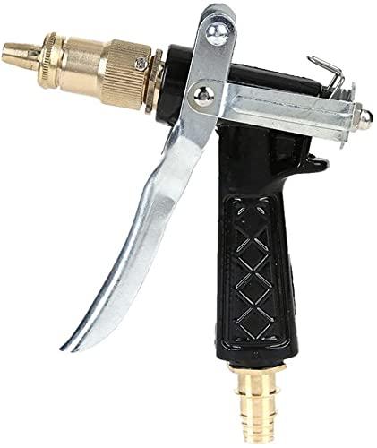LLDKA Pistola de Agua de la Boquilla de la Manguera de riego con Alta presión, Antideslizante y a Prueba de Golpes, Pistola de Agua, Suministros de jardín, Conjunto de riego de casa