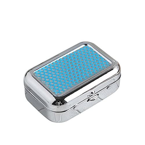 Mini Cenicero Portátil, Trpambvia Cenicero Cuadrado de Metal con Tapa Cenicero de Bolsillo Desmontable para Coche Mini Cenicero de Viaje para Coche Hogar y Oficina, Azul