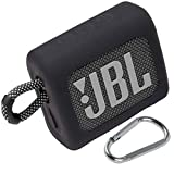 co2crea Silicone Carrying Case Replacement for JBL GO3 Go 3 Waterproof Ultra Portable Bluetooth Speaker (Silicone Black Case)