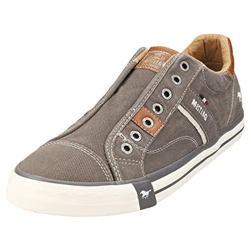MUSTANG Herren 4072-403-20 Slip On Sneaker, Dunkelgrau, 42 EU