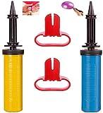 CHANG 2 Pcs Bombas de Globo,Bombas de Aire de,Bomba de Globos Manual Bombas de Globos, Bombas de Globos de Mano Inflador Manual Ligero Durable Con dos anudadores de globos