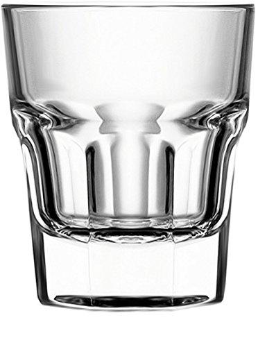 Circleware Scorchers Shot, Set mit 6 Stück, 42,5 ml, klare Glaswaren Trinkgläser für Whiskey, Wodka, Brandy, Bourbon & meistverkaufte Likör-Getränke Geschenke