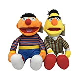XINQ Dibujos Animados de TV Sesame Street Elmo Ernie & Bert PLUSUS Toys LELMING LELMINT FILLOW NIÑOS Comfort Muñecas Regalo 2 unids.50 cm