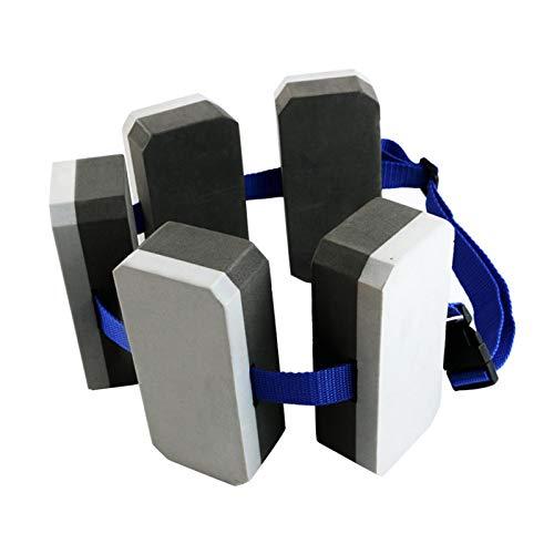 POHOVE Cinturón de natación flotante de espuma EVA, cinturón de natación, dispositivo de flotación, flotador de espalda, cinturón de entrenamiento aeróbico de agua, para adultos y niños