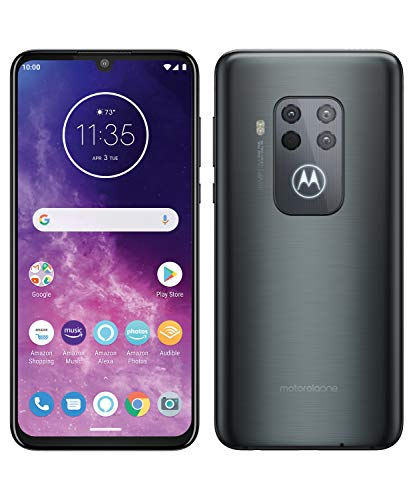 Motorola One Zoom, Quad Camera 48MP, 128GB, Amazon Alexa Hands-Free, Batteria 4000 mAh TurboCharge, Display OLED MaxVision 6.4' FHD+, Dual Sim, Android 9 Pie - Electric Grey