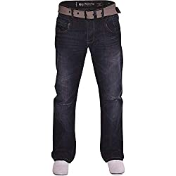 Brand New With Tags, Mens Crosshatch Jeans Style: Regular Fit, Straight Leg Free Belt with this item Pockets- 2 Front Pockets, 3 Back Pockets, 1 Small Coin Pocket Fly- Button Fly