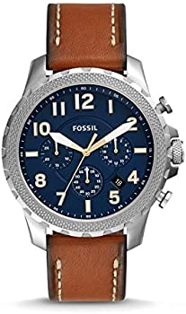 Fossil Bowman Chronograph Luggage Leather Men's Watch