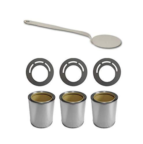 Deka Interieurbouw Zubehör-Set für Bio Ethanol/Gel Brennstoffdosen 0,5L + Deckel + Sparplatten + Flammenlöscher