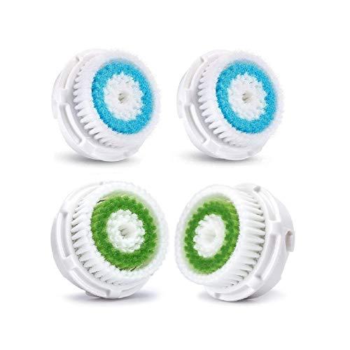Rechoo profonda dei pori pulizia del viso testine di ricambio per Mia 1, MIA2, MIA3 (aria), Smart Profile, ALPHA Fit, Pro, Plus e Radiance Cleansing Systems (Deep Pore Cleansing) (4 Pcs Set)