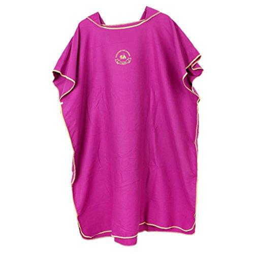 Homyl Premium Mikrofaser Kapuzentuch für Kinder Jungen Mädchen Bademantel mit Kapuze Strandtuch Badeponcho Badetuch Umkleide Umkleidehilfe - Pink