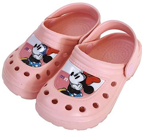 Zuecos Minnie Mouse para Playa o Piscina - Zuecos Disney Minnie Mouse para niñas (Numeric_32)