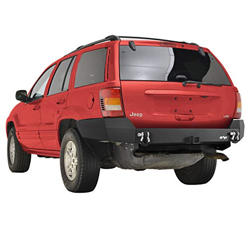 """KML Assembled Rear Bumper with 2"""" Hitch Receiver Compatible with 1999-2004 Grand Cherokee WJ"""