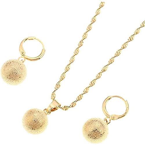 Pendientes redondos de la bola del collar del colgante de la perla del esmalte del oro del color del color para el sistema de la joyería de África