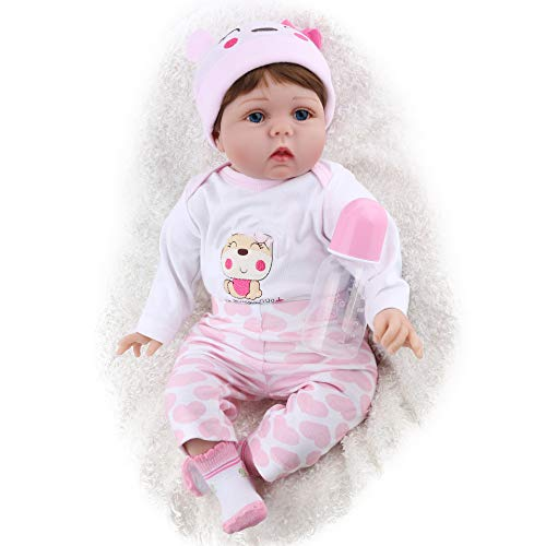 Funny House 22inch55cm Reborn Baby Doll Realistic Real Looking Reborn Baby Dolls Lifelike Soft Silicone Vinyl Child...
