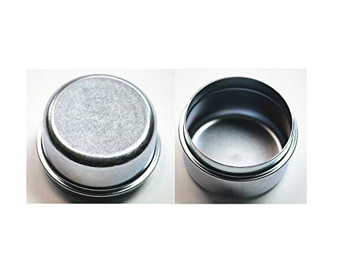 """ASMSD Replaces Trailer 1.98"""" Inch Grease Cover Dust Cap 2k 3.5k 3,500 lb Axle Hub with Plug (2Pack)"""
