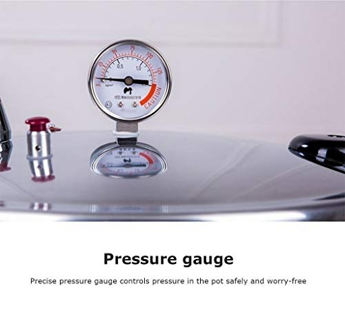 pressure barrel pressure gauge canteen fast aluminum induction cooker restaurant college of industrial and commercial households 15L kitchen shopping center large capacity Pressure cooker 22