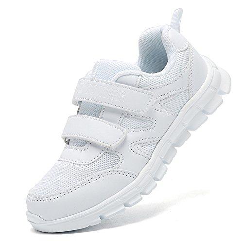 LakeRom Girls White Sneakers